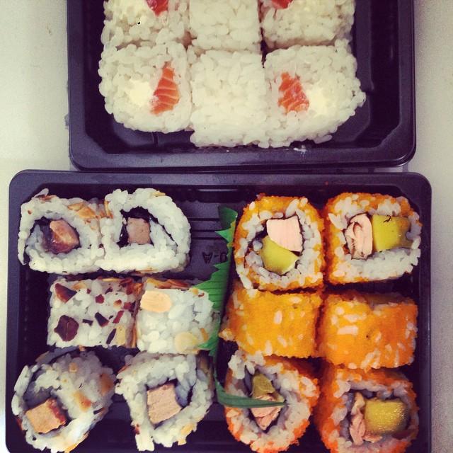 Dimanche déménagement = dimanche sushi ??